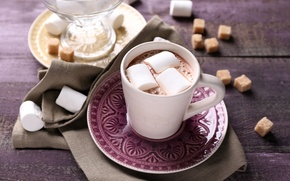 Wallpaper cup, chocolate, hot, chocolate, cocoa, marshmallow, cocoa, marshmallows