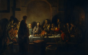 Picture picture, mythology, The Last Supper, Of gerbrand van den Eckhout