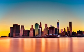 Picture the city, skyscrapers, USA, America, USA, New York City, new York