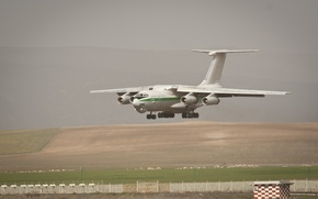 Picture aviation, wings, turbine, Russia, military transport aircraft, 90A, The Il-76