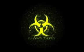 Picture black, biohazard, yellow, symbol