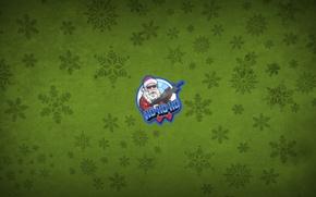 Picture green, santa, newyear
