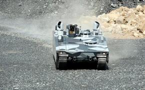 Picture machine, gravel, combat, armored, Armadillo, CV90
