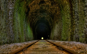 Picture road, rails, the tunnel, 154