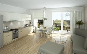 Picture design, furniture, interior, kitchen, the room