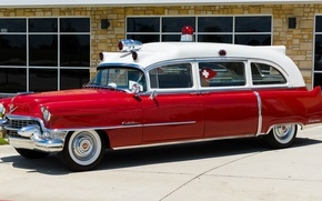 Wallpaper retro, Cadillac, classic, classic car, Ambulance