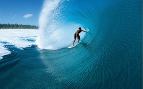 Picture water, wave, Surfer