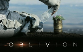 Picture water, flowers, earth, Oblivion, Tom cruise, sitting, oblivion