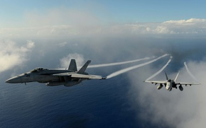 Picture fly, over, jet, fighters, stream