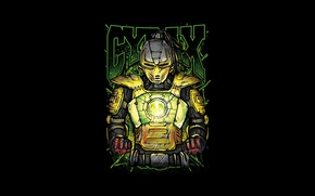 Wallpaper yellow, fighter, cyborg, art, Mortal Kombat, Cyrax