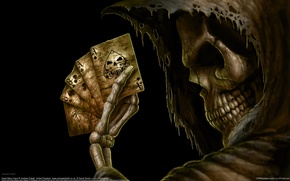 Picture card, death, fantasy, the game
