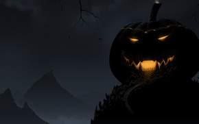 Picture the darkness, light, Halloween, smile, Halloween, pumpkin, night, night, pumpkin