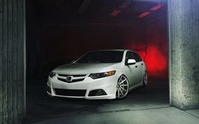 Picture tuning, white, before, white, Honda, Honda, vossen, Acura, Acura, Wagon, TSX