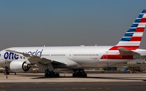 Picture flight, the plane, the rise, Boeing, 300, American Airlines, boeing-777, ONE World