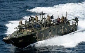 Picture wave, boat, soldiers, RCB, command, sea