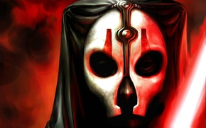 Picture face, mask, Star Wars, lightsaber, Knights of the Old Republic, The Sith Lords