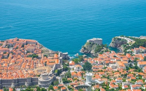 Picture sea, coast, building, panorama, Croatia, Croatia, Dubrovnik, Dubrovnik, The Adriatic sea, Adriatic Sea