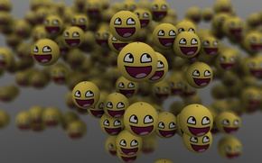 Wallpaper smile, balls, a lot, emoticons