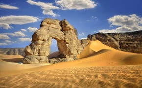 Picture rocks, desert, arch, Sands