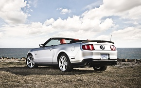 Picture auto, landscape, nature, The sky, convertible, cars, auto, wallpapers, Muscle car, Ford mustang