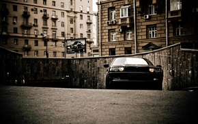 Picture the city, street, building, bmw, home, Boomer, seven, e38, bumer