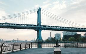 Picture bridge, USA, America, USA, New York City, new York, Brooklyn bridge