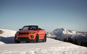 Picture snow, mountains, Land Rover, Range Rover, Evoque