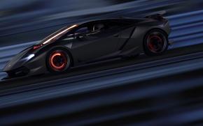 Picture Lamborghini, Speed, Supercar, Supercar, Elemento, Sesto, Brake