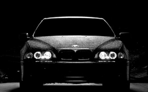 Picture night, lights, Bmw, the front, m5 e39, BMW