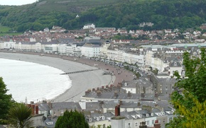 Picture beach, sea, coast, holiday, town, wales, llandudno, great orme