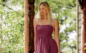 Picture greens, model, makeup, garden, figure, dress, actress, hairstyle, blonde, photoshoot, Gemma Ward, Gemma Ward, Free …