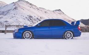 Picture subaru, impreza, snow