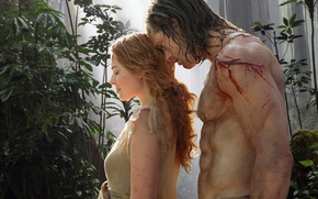 Wallpaper Tarzan, Tarzan, Margot Robbie, Alexander Skarsgard, Alexander Skarsgard, Margot Robbie, The Legend of Tarzan, Jane ...