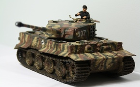 Picture toy, tank, Tiger, German, model, heavy