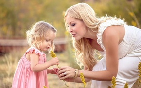 Picture love, flowers, family, girl, mom