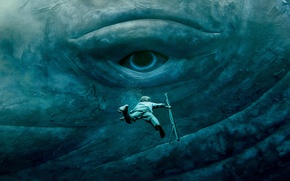 Wallpaper Chris Hemsworth, eyes, the situation, In the Heart of the Sea, under water, In the ...