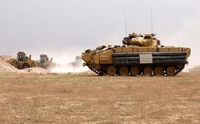 Wallpaper war, M2 Bradley, USA, machine