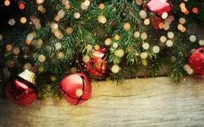 Picture decoration, tree, bells, Christmas, decoration, xmas, Merry, Christmas. New Year