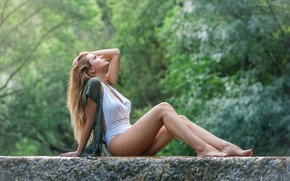 Picture feet, hair, blonde, beauty