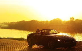 Picture summer, the sun, bmw cabriolet