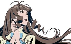 Picture Anime, Rie Kaisa, Rie Kaishou, Un-Go, White background.