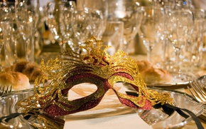 Wallpaper FEAST, MASK, CRYSTAL, GLASS, GLASSES
