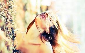 Picture summer, girl, light, ecstasy