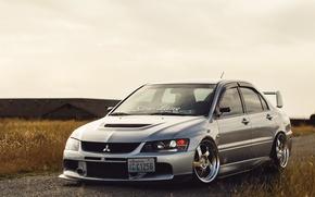 Picture Mitsubishi, Lancer, Evolution, 2005, Mitsubishi, Lancer, Chrome, Evolution, Wheels, Evo, KR1, Whistler, Whistler, KR1
