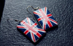 Picture England, Flag, UK, Earrings, Notebook