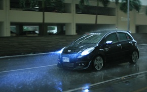 Picture machine, squirt, rain, puddles, rides, Discover The Toyota