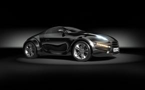 Picture black, supercar, car