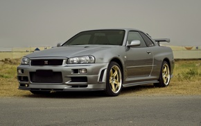 Wallpaper Nissan, skyline, gtr, r34, v-spec