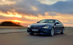 Picture Sunset, BMW, Coupe, Package, The front, 650i, M Sport