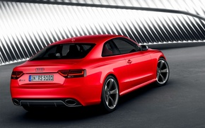 Picture Audi, Red, Machine, RS5, Drives, Coupe